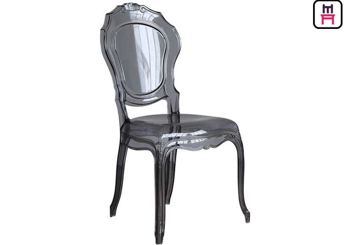 Light Weight Bella Ghost Plastic Restaurant Chairs Arm / Armless For Indoor / Outdoor