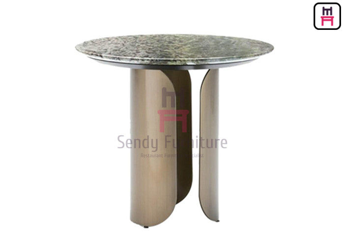Hollowed Out 0.15cbm Stainless Steel Marble Table 55*40cm