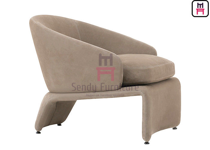 Fabric Plywood Brass Feet 0.8cbm Upholstered Sofa Chair